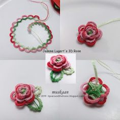 muskaan's T*I*P*S: Search results for Rose Shuttle Tatting Patterns, Needle Tatting Patterns, Crochet Flower Patterns, Crochet Flowers, Dress Patterns, Tatting Earrings, Tatting Jewelry, Tatting Lace, 3d Rose