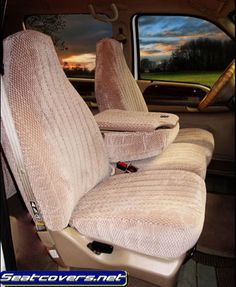 Hatchie bottom twill front seat covers