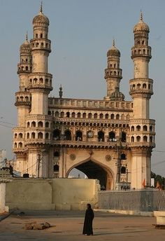 The beauty of Mughal architecture in Charminar, Hyderabad.