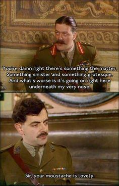 Rowan Atkinson! in the black adder.