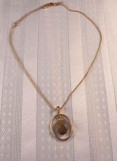 "Lia Sophia Slide Pendant Necklace 11"" Goldtone  #LiaSophia #Pendant"