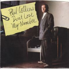 """Phil Collins / Don't Lose My Number / We Said Hello Goodbye / 7"""" Vinyl 45 Jukebox Record & Picture Sleeve #PopMusic"""