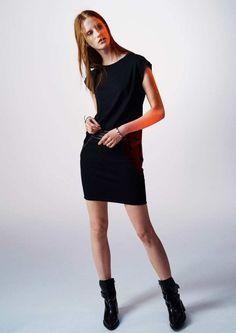 Women's skirt in cotton fleece with leather details. Above-knee length. Cotton Fleece, Women's Skirts, Slim, Shirt Dress, Shirts, Black, Tops, Dresses, Fashion