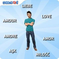 Do you know how to say 'love' in more than one language? Here's a little guide to help you out. en.smeet.com