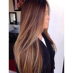 brunette balayage♡