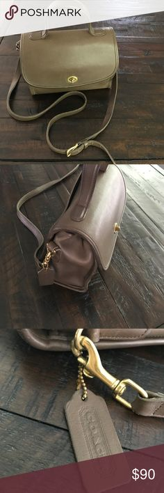 vintage COACH top handle bag. saddle bag. top handle. cross body. all leather with leather lining. Coach Bags Satchels