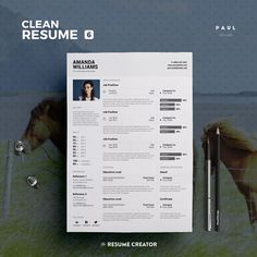 Clean Resume Vol. 6 | Photoshop, Word and Indesign Template | Professional and Creative Resume Design