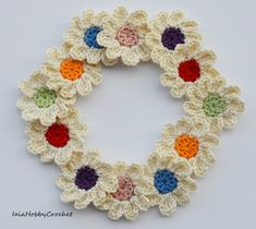 Made to order, please allow 5-7 business days before delivery 12 Crochet Flowers Appliques, embellishments . Made from a lovely soft 100% cotton crochet thread . Each flower is approximately 3.5 cm in diameter (11/4). Great embellishments for your scrapbooking and sewing