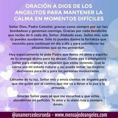 ORACIÓN A DIOS DE LOS ANGELES PARA MANTENER LA CALMA EN MOMENTOS DIFÍCILES