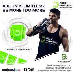 Complete Lean Mass™, perfect for anyone who wants to add muscle mass Choose your Optimal Nutrition at Starseed®, Exclusive Importer of Bulk Powders® UK Glycemic Index, Whey Protein, Muscle Mass, Powder, Nutrition, Face Powder, Meals