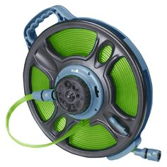 Ray Padula 5/8 in. x 50 ft. 2-in-1 Flat Garden Hose, Blue