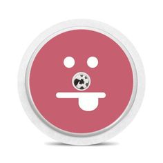 Freestyle Libre sensor sticker: Pink funny face