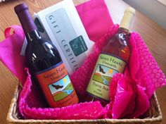 Two bottles of Seven Hawks wine plus a night for two at the Hawks View cottages.  Donated by Nilles Builders.