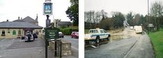 Old Jubilee pub, Whiteway Road and floods at bottom of Pennyquick
