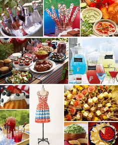@Carla Garber   Love the red, white and blue drink display...possibly a good idea for the reunion?