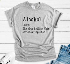 Cute Shirts, Funny Shirts, Grey Shorts, The Ranch, Colorful Shirts, Unisex, T Shirts For Women, Sleeves, T Shirt Designs Inspiration