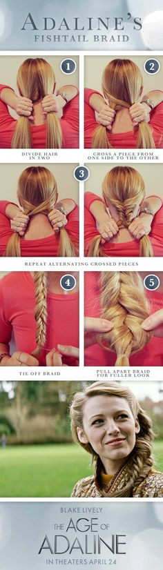 DIY Fishtail Braid long hair braids how to diy hair hairstyles fishtail braid hair tutorials easy hairstyles (Mermaid Hair Tutorial) 5 Minute Hairstyles, Fast Hairstyles, Trendy Hairstyles, Braided Hairstyles, Beautiful Hairstyles, Easy Hairstyles Tutorials, Blake Lively Hairstyles, Mermaid Hairstyles, Camping Hairstyles