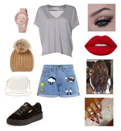 """""""Untitled #1329"""" by glamor234 on Polyvore featuring Acne Studios, Paul & Joe Sister, Puma, Charlotte Russe and Lime Crime"""