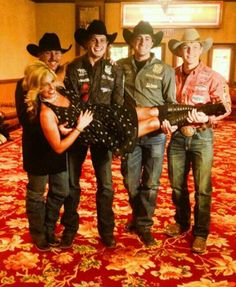 The royal family in rodeo, Trevor Brazile, Clif Cooper, Stetson Vest, Tuf cooper and Shada Brazile