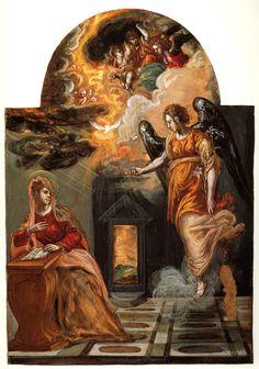 El Greco, Modena triptych. Annunciation. 1567-1568