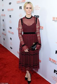 Red hot! Sarah Paulson is known both for her dramatic and horror acting chops she proved o...