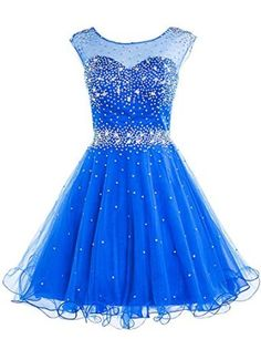 Amazon.com: Sarahbridal Girls Short Tulle Beading Homecoming Dress Prom Gown: Clothing