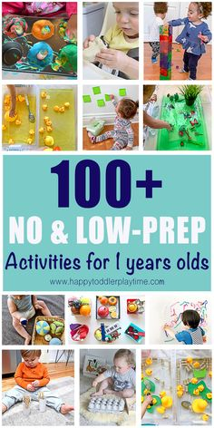 No-Prep Indoor Activities for 1 Year Olds Here is a fantastic list of no-prep and low-prep activities and sensory bins you can easily do at home with your 1 year old. Activities For One Year Olds, Toddler Learning Activities, Montessori Activities, Infant Activities, Fun Activities, 1 Year Old Games, Activities With Toddlers, Calming Activities, Indoor Activities For Kids