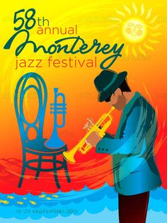 Monterey Jazz Festival Poster by M GUINAN on CreativeAllies.com