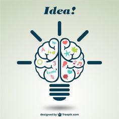 Ilustración creativa de cerebro Vector Gratis