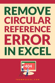 Circular reference error is quite common but you work with formulas in Excel. This usually happens when you end of referring to the same cell in which you have the formula.    In this Excel tutorial, I will show you how to find and remove circular reference errors in Excel.    #Excel #ExcelTips #MSExcel  #ExcelFormulas #CircularReference Microsoft Excel Formulas, Excel For Beginners, Excel Hacks, Pivot Table, Autumn Activities For Kids, Simple Words, Computer Programming, How To Remove, Told You So
