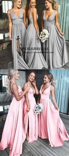 2019 A-line Cheap Sexy V Neck Colorful Long Modest Elegant Bridesmaid  Dresses 4e0156f02fef