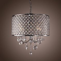 Museum-Light Ceiling Pendant Light Chandeliers Fixture with Crystal Drops in Round 4-Lights CA2016-101/D, http://www.amazon.ca/dp/B01GFEH34K/ref=cm_sw_r_pi_awdl_x_Xa8UxbZ2M8MCQ