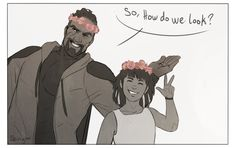 i've got you in my thighs — shinyno: Gabe in a flower crown requested by...