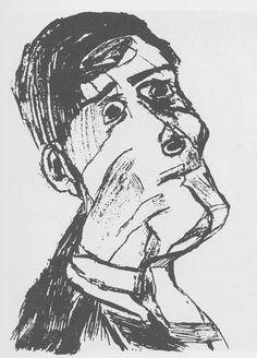 Oskar Kokoschka: self portrait
