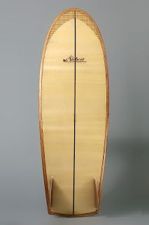 Siebert Woodcraft Surfboards / Hollow Wooden Surfboards: 5'3'' Mini- Simmons
