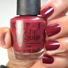 We the Female is a dark and grayed out burgundy polish. New from the OPI Washington DC Collection 2016 (Fall/ Winter). Opi Nail Polish Colors, Opi Colors, Opi Nails, Nail Polishes, Colours, Classy Nails, Cute Nails, Plain Nails, Burgundy Nails