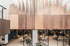 » Rain of Light by Yuan Architects, Taipei – Taiwan Lobby Interior, Interior Design, Taipei Taiwan, Concept Diagram, Co Working, White Paneling, Coworking Space, Commercial Interiors, Ceiling Design
