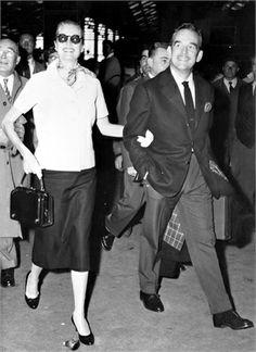 Il Princime Rainier e Grace Kelly Parigi, 1956.