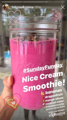 Nice cream smoothie🍌🥥 Yummy Smoothies, Smoothie Recipes, Diet Recipes, Gut Health, Fruits And Veggies, Smoothie Bowl, Drink Me, Detox, Healthy Diet Recipes