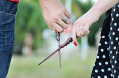 Bigley Photography | When Geeks Wed | Nerdy Couple | Couples Photography | Harry Potter Photography | Harry Potter Wands