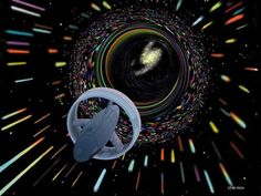 NASA Finds 'Impossible' Engine May Be Usable For Space Flight - Wormhole travel as envisioned by Les Bossinas for NASA. Microwave propulsion could facilitate interstellar space travel. Space Travel, Time Travel, Cosmos, Science Fiction, Science Space, Warp Drive, Faster Than Light, Johnson Space Center, Space Time