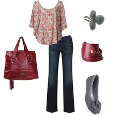 Zara top, 7 for all mankind jeans, soda shoes, buckle purse, lpcollection bracelet, debenhams silver flower ring