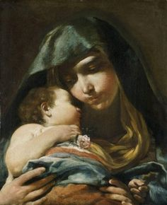 Madonna E Bambino Dormiente...Guisseppe Maria Crespi...Beautiful Painting...