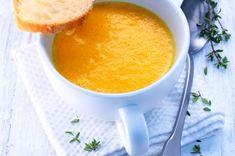 Soupe de potiron à l'orange et au thym, au four vapeur