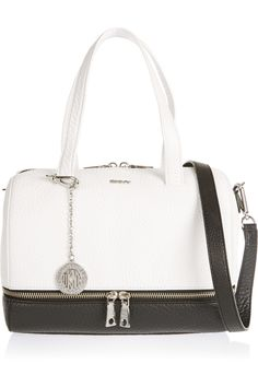 DKNYTwo-tone textured-leather toteclose up