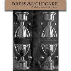 Dress My Cupcake Chocolate Candy Mold Trophy * Find out more about the great product at the image link. (This is an affiliate link) My Dessert, Dessert Table, Candy Making Supplies, Chocolate Candy Molds, Cupcake, Coffee Maker, Kitchens, Image Link, 3d