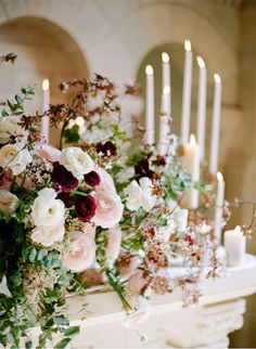 Blush isn't limited to spring or summer weddings - with the right accent colors it looks beautiful for fall weddings too. Love deep, rich hues? Try blush and wine wedding flowers for the cooler seasons. Pin for more blush wedding ideas for every season.