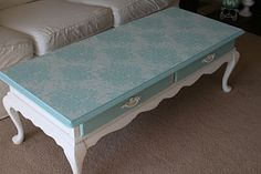 For the love of white: Chalk Paint Coffee Table Project