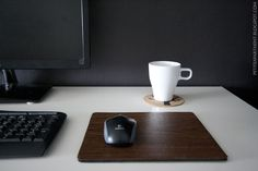 Quick and Easy DIY Project: Make a Faux Wood Grain Mouse Pad