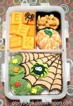 Kids Halloween Spider Bento Lunch